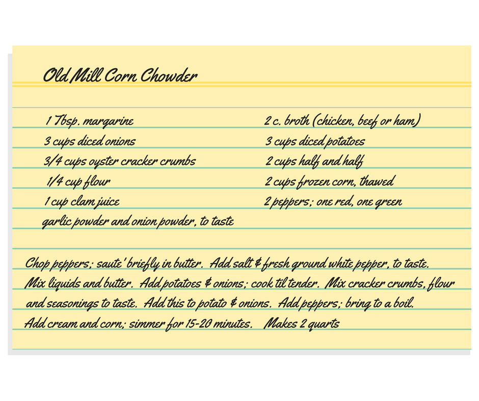 Blog_Old Mill_Corn_Chowder_Recipe_Card